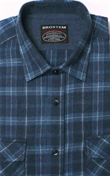 Полуприталенная фланелевая рубашка с шерстью KA9L5-3
