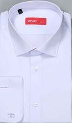 На высоких белая рубашка VESTER 707142-14-01
