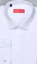 Жаккардовая белая рубашка VESTER 70714-14-60