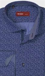 Полуприталенная рубашка VESTER 28114-09w-21