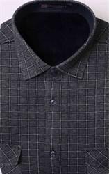 Утепленная флисом серая рубашка BROSTEM MS2A1-96