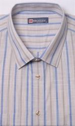 Лен с хлопком бежевая рубашка BROSTEM 1SG032-6