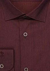 Бордовая рубашка 100% хлопок VESTER 13841-03sp-21