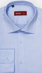 Голубая 100% хлопок рубашка VESTER 16341-06sp-21