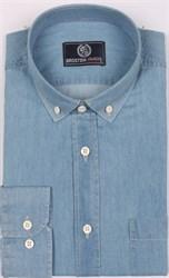 Рубашка джинсовая BROSTEM 1LBM15-3 полуприталенная