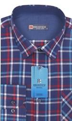 Мужская рубашка лен/хлопок LN144-Z Brostem приталенная