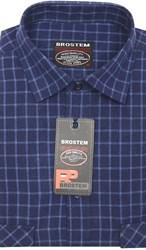 Полуприталенная рубашка шерсть/хлопок KA15019D