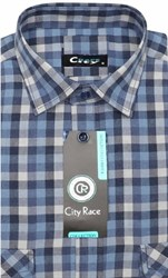 Фланелевая приталенная рубашка City Race KAC1705