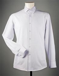 Белая жаккардовая рубашка VESTER 70714S-14