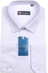 Белая полуприталенная рубашка BROSTEM 4701A*