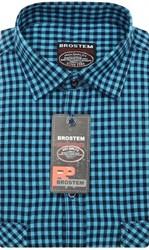 Приталенная рубашка шерсть/хлопок Brostem KAC15028C