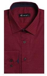 Приталенная стрейч хлопок мужская рубашка 8LCR24-3-pp CITY RACE BROSTEM