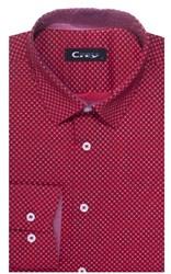 Приталенная хлопок стреч мужская рубашка 8LCR28-1-pp CITY RACE BROSTEM