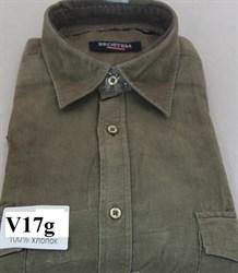 Вельветовая большая рубашка хлопок Brostem V17g