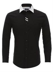 Приталенная рубашка Bawer RZ1113008-01 черная